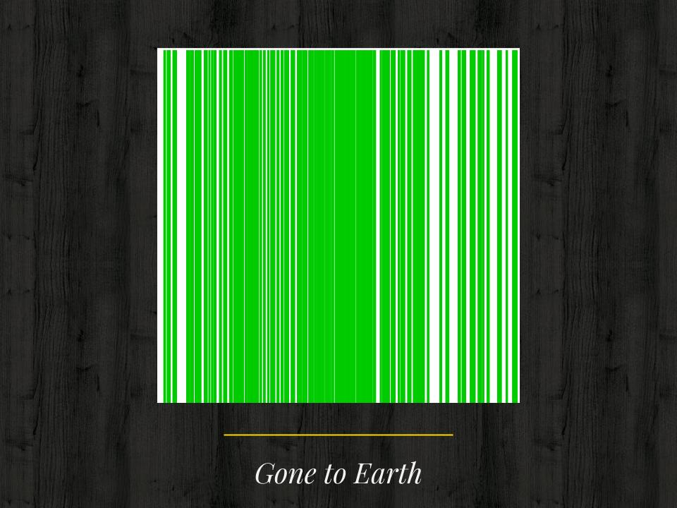Gone to Earth botanical barcode
